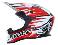 Wulfsport Cub Advance Kids Moto-X Helmet (Red)