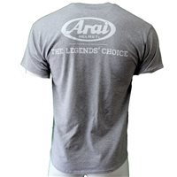 Arai Legends T-Shirt, Gildan Heavy Cotton Grey