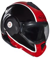 Roof Desmo FLASH Flip Front Helmet (Black/Red)