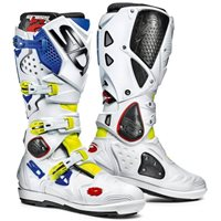 Sidi  Crossfire 2 SRS Motocross Boots (Yellow Fluo/White/Blue)