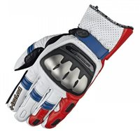 Held SR-X Motorcycle Gloves (White/Red/Blue)