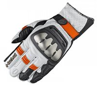 Held SR-X Motorcycle Gloves (White/Orange)