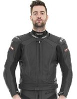 RST R-16 Leather Motorcycle Jacket 1068 (Black)