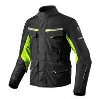 Revit Motorcycle Jacket Outback 2 (Black/Neon Yellow)