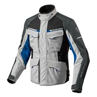 Revit Motorcycle Jacket Outback 2 (Silver/Blue)