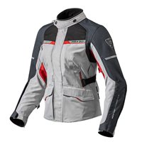 Revit Ladies Motorcycle Jacket Outback 2 (Silver/Red)