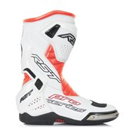 RST Pro Series Motorcycle Race Boot 1503 (White/Flo Red)