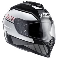 HJC IS-17 Tridents Motorcycle Helmet (Black/White)