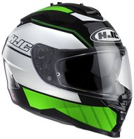 IS-17 Tridents Motorcycle Helmet (Green) by HJC