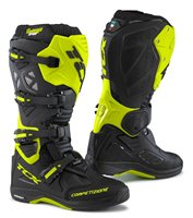TCX Comp Evo Michelin Moto-X Boots (Black/Flo Yellow)