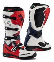 TCX Comp Evo Michelin Moto-X Boots (White/Red/Blue)