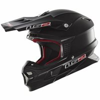 LS2 Light MX456 Moto-X Helmet (Matt Black)