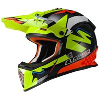 LS2 MX437 Fast Isaac Vinales Replica Hi Vis Yellow/Orange Moto-X Helmet