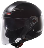 LS2 Track OF569 Open Face Helmet (Black)
