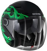 Shark RSJ Open Faced Helmet Hotspur