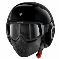 Shark Raw Open Face Helmet (Gloss Black)