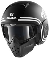 Shark Raw Open Face Helmet 72 MAT (Black/White/Orange)