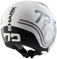 Shark Nano 72 Open Faced Helmet (White/Black/Silver)