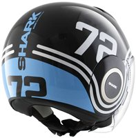 Shark Nano 72 Open Faced Helmet (Black/Blue/White)