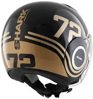 Shark Nano 72 Open Faced Helmet (Black/Gold)