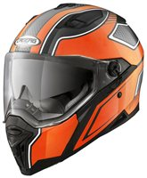 Caberg Stunt Motorcycle Helmet (Black/Orange)