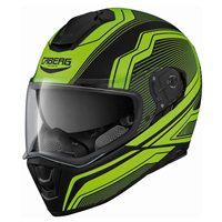 Caberg Drift Flux Motorcycle Helmet (Matt Black/Fluo Yellow)