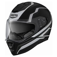 Caberg Drift Flux Motorcycle Helmet (Matt Black/White)