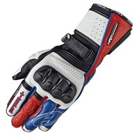 Held Chikara Pro Motorcycle Gloves (White/Red/Blue)
