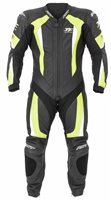 RST Isle Of Man TT R-16 One Piece Leather Suit (Black/Fluo Yellow)