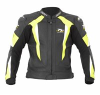 RST Isle Of Man TT R-16 Leather Jacket (Back/Fluo Yellow)