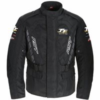 RST Alpha IV Isle Of Man TT Textile Motorcycle Jacket (Black)