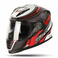 Nitro NRS-01 TORQUE Motorcycle Helmet (Black/Gun/Red)