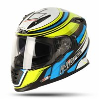 Nitro NRS-01 TORQUE Motorcycle Helmet (Black/Yellow/Blue)