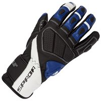 Spada Burnout Motorcycle Gloves (Black/White/Blue)