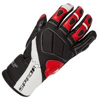 Spada Burnout Motorcycle Gloves (Black/White/Red)