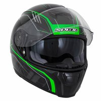 Spada SP16 Gradient Motorcycle Helmet (Black/Green)