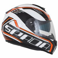 Spada SP16 Gradient Motorcycle Helmet (White/Orange)