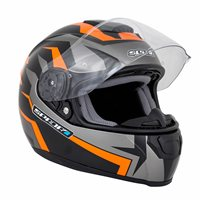 Spada SP16 Voltor Motorcycle Helmet (Matt Black/Orange)