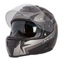 Spada SP16 Voltor Motorcycle Helmet (Matt Black/Silver)
