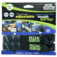 Oxford ROK Motorcycle Straps HD 25mm Adjustable (Black|Blue|Green)