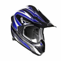 Stealth MX Edge Motocross Helmet - HD203 (Blue)