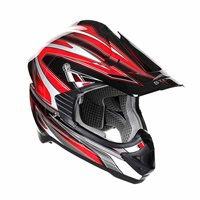 Stealth MX Edge Motocross Helmet - HD203 (Red)