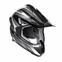 Stealth MX Edge Motocross Helmet - HD203 (Silver)