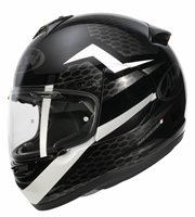 Arai Axces III Keen Motorcycle Helmet (Black/White)