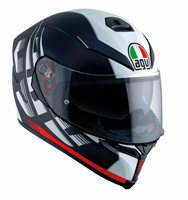 AGV K5-S DARKSTORM Motorcycle Helmet (Matt Black/Red)