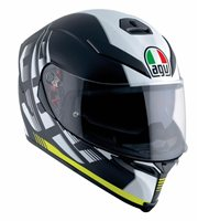 AGV K5-S DARKSTORM Motorcycle Helmet (Matt Black/Yellow)