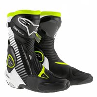 Alpinestars SMX Plus Motorcycle Boot (Black/White/Fluo)
