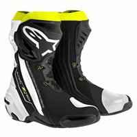 Alpinestars Supertech R Motorcycle Boot (Black/White/Fluo)