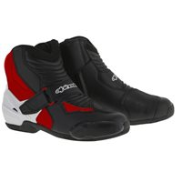 Alpinestars SMX-1R Motorcycle Boot (Black/White/Red)