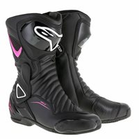 Alpinestars Stella SMX-6 v2 Ladies Waterproof Motorcycle Boot (Black/White/Fuchsia)